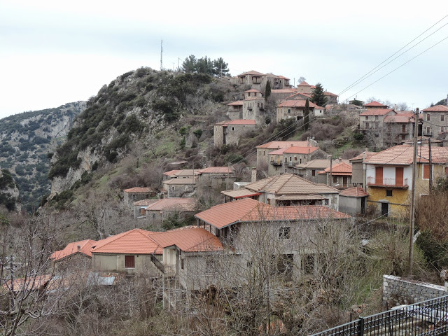 Another view of the Stemnitsa village. Most houses are made of masonry with pitched roofs.