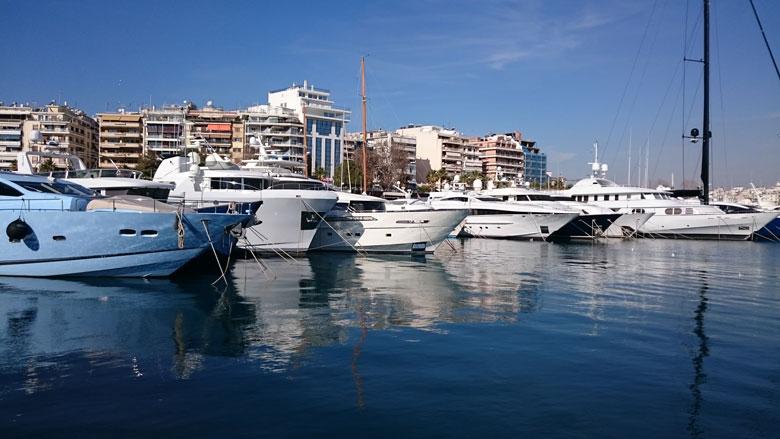 View of the port of Zea in Piraeus. Image by Velvet.