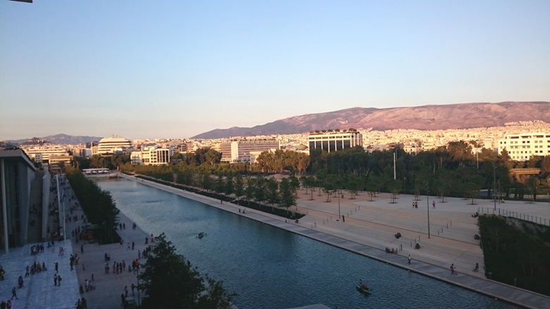 Partial view of Athens from the Stavros Niarchos Cultural Center. Image by Velvet.
