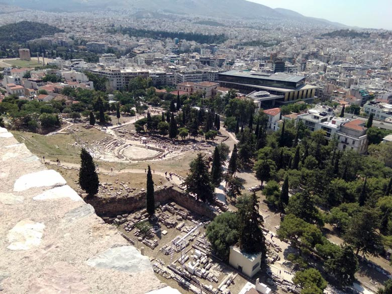 View of Athens and the Acropolis Museum from the Parthenon. Image by Elisabeth.