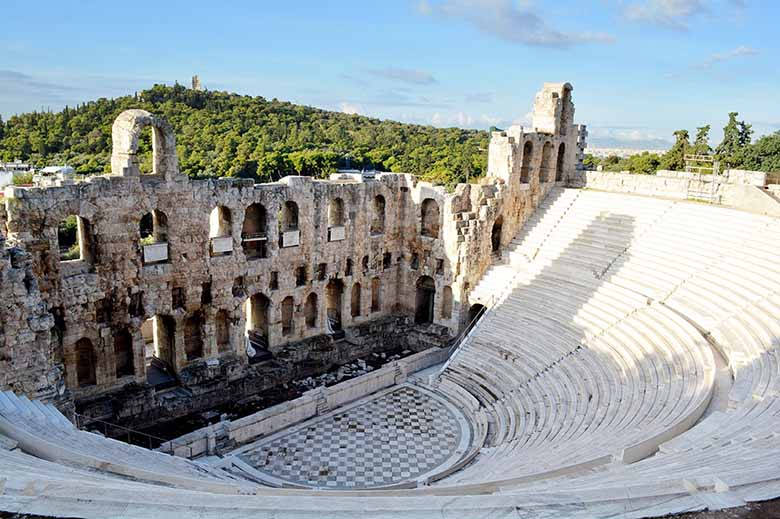 View of the Odeon Herodes Atticus in Athens