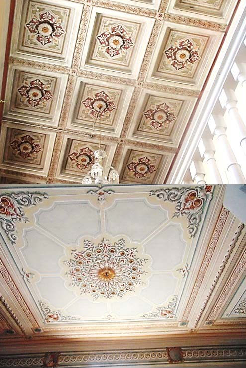 Both top and bottom images of beautiful ceiling murals