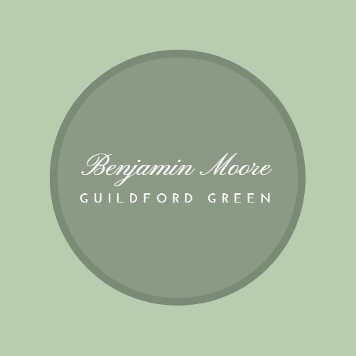 Benjamin Moore Guildford Green color sample