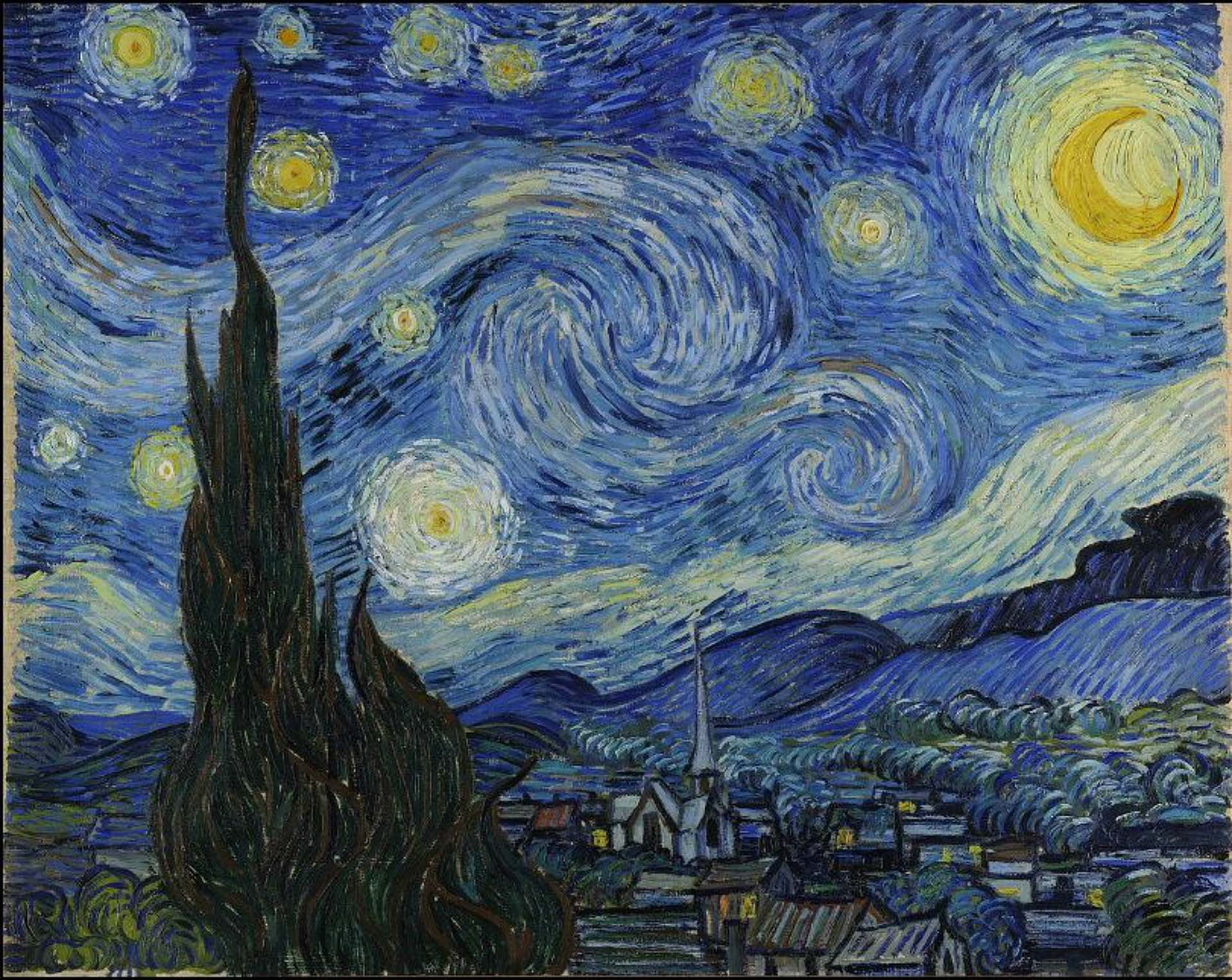 Image of the Starry night by Vincent van Gogh