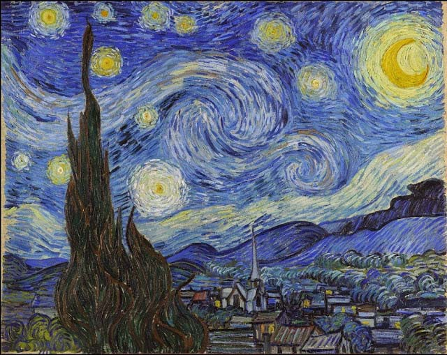 The starry night by Vincent vanGogh