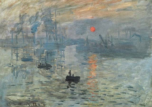 Claude Monet's Sunrise Painting