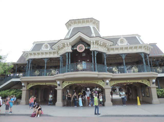 The central train station at Disneyland Paris