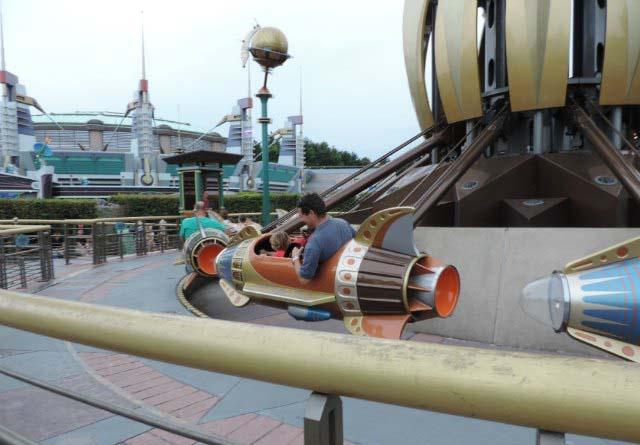 On an open rocket ride