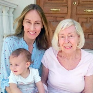 Family photo of three women