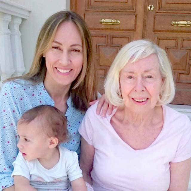 Three generations: Velvet, her mother and daughter
