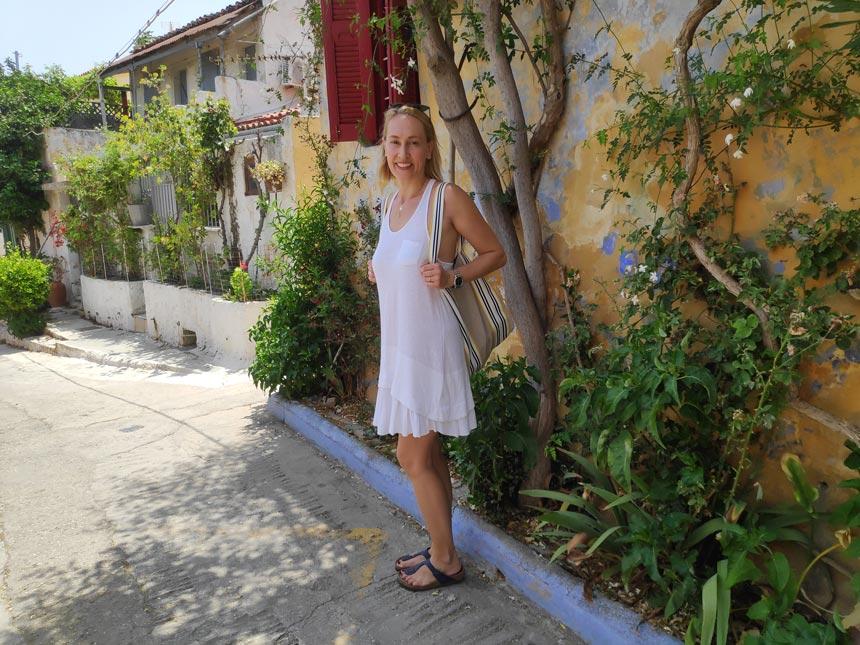 Velvet in an alley at Plaka Athens.