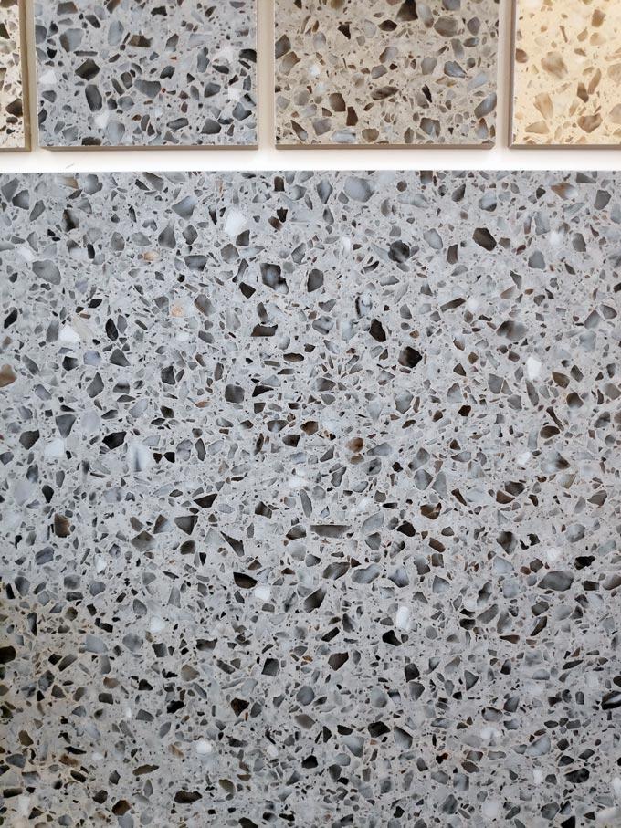 Terrazzo tile sample colors