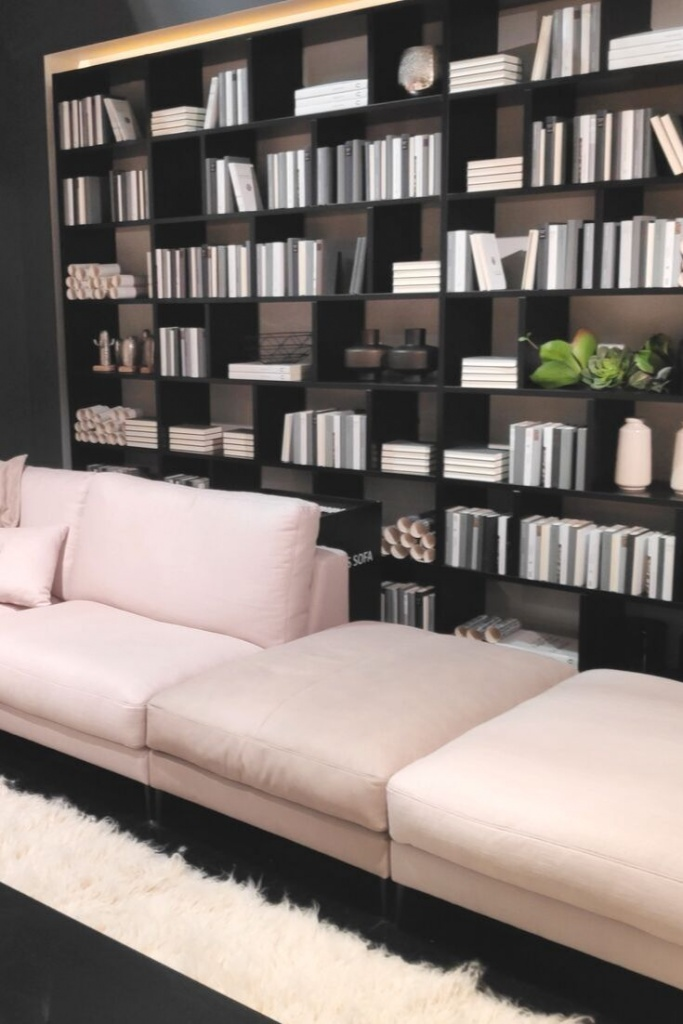 Bookcase styling as seen at Salone del Mobile 2019 in Milan.