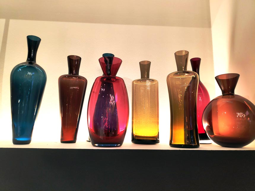 Murano glass decor. Image snapped at Salone del Mobile 2019 in Milan by Velvet.