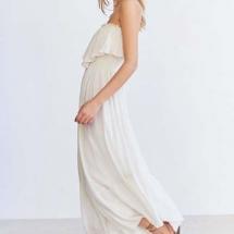 White strapless ruffled jumpsuit