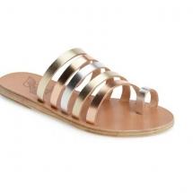 Metallic strap Greek sandals