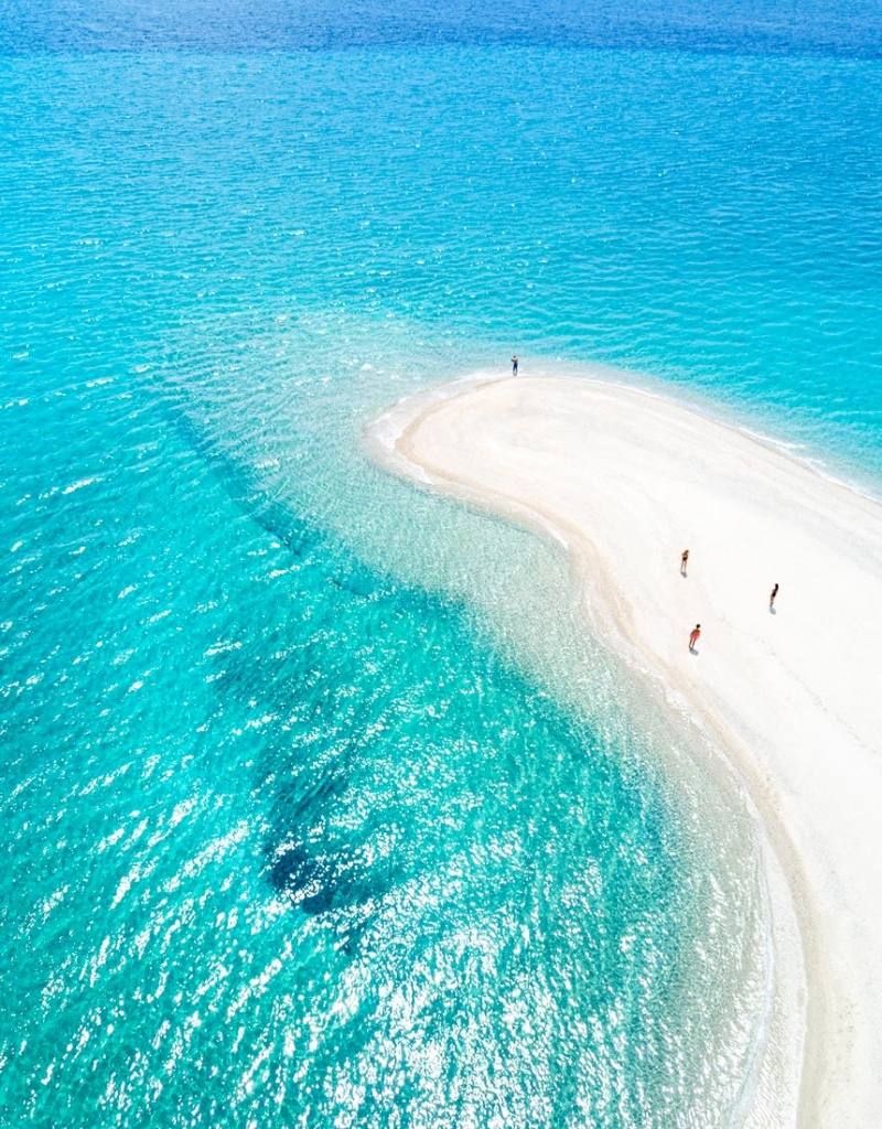 Aerial view of Posidi Cape in Chalkidiki, Greece taken by Marina Vernicos.