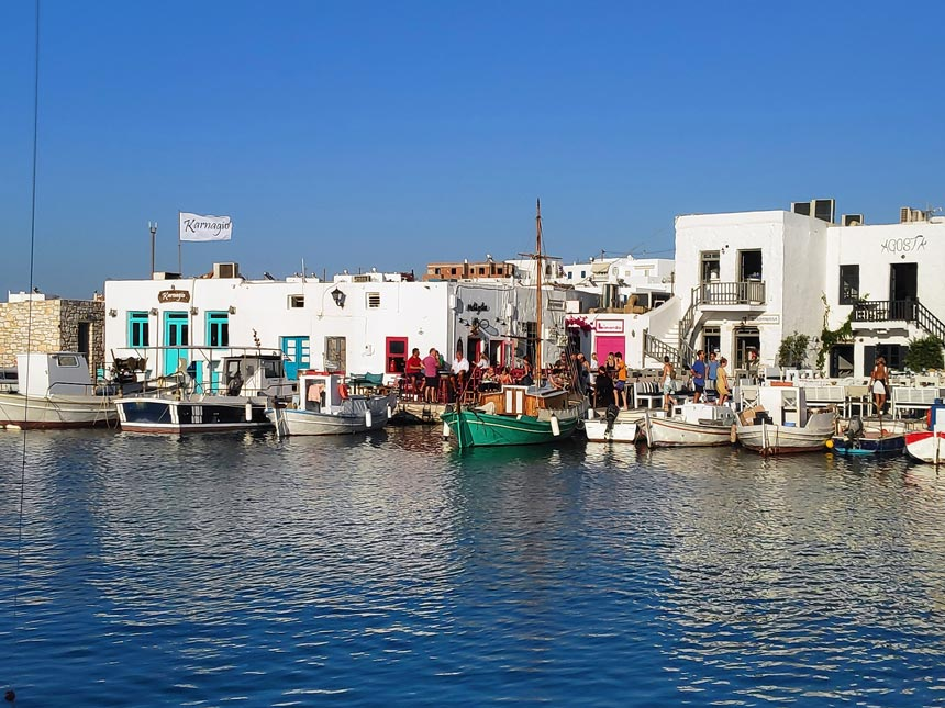 Partial view of the scenic port of Naoussa in Paros, Greece. Image copyright: Velvet K.
