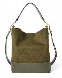 Tote nubuck khaki leather bag