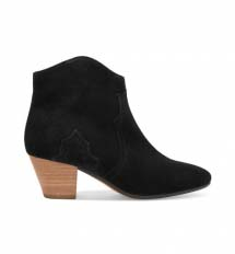 Black leather ankle boots from Isabel Marant