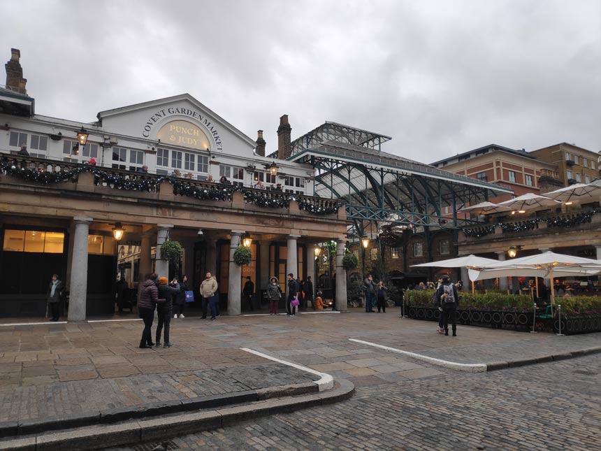 View of the Covent Garden Market in London.