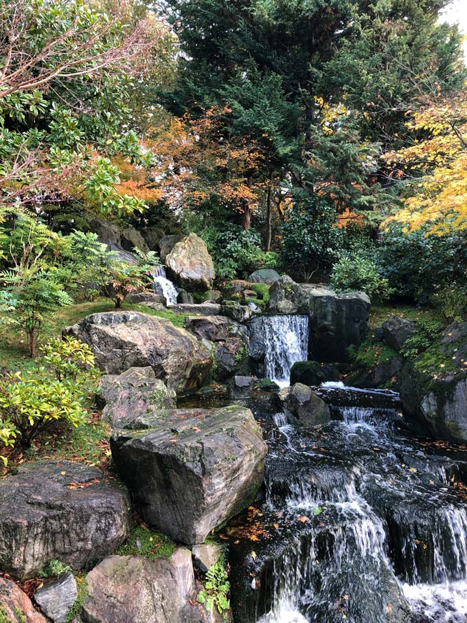 View of the Japanese Gardens in Holland Park London