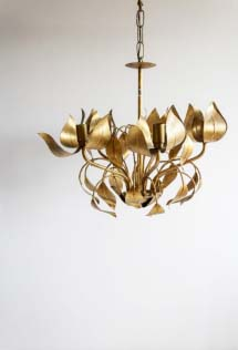 Vintage brassy chandelier