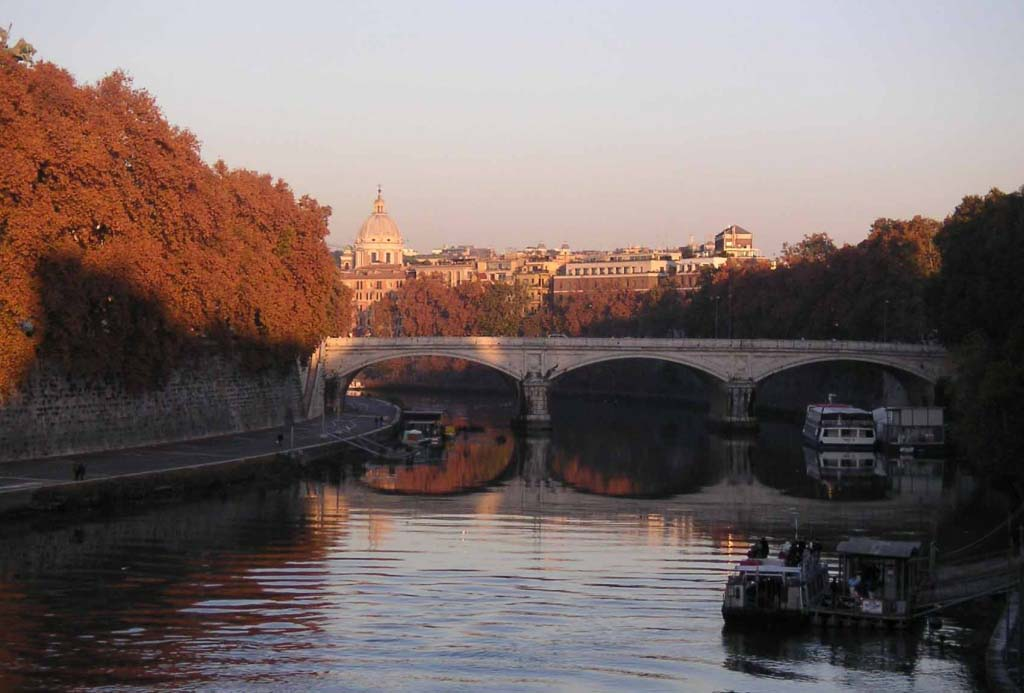View of Rome from the Tiber River. Image by Velvet