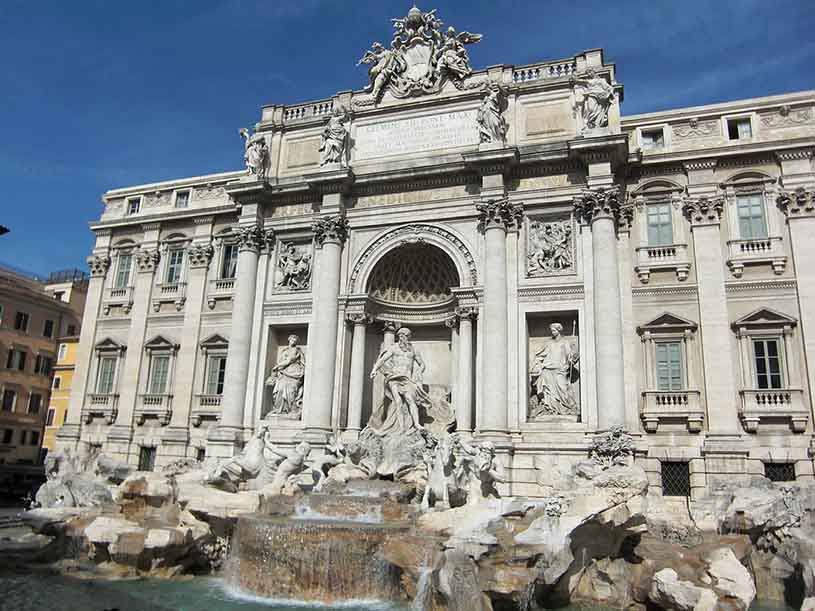 The famous Fontana di Trevi in Rome