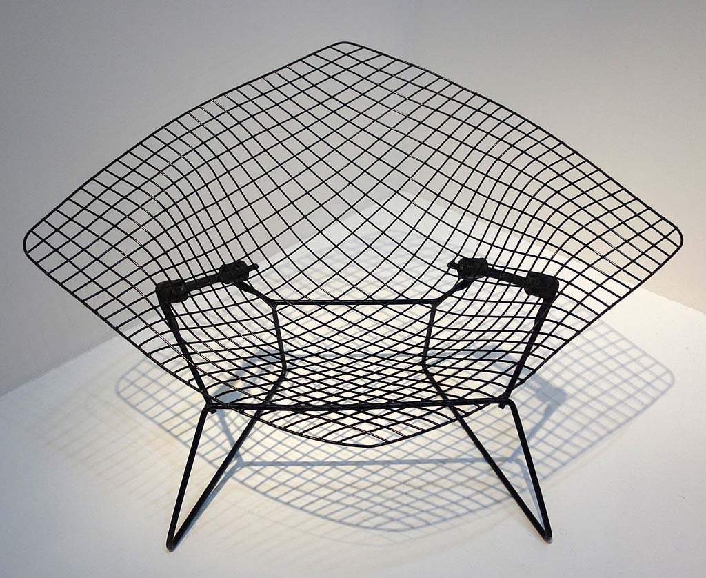 A Diamond chair by Harry Bertoia