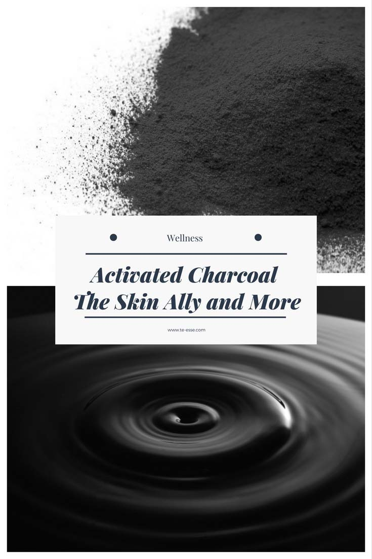 Two forms of activated charcoal. Powder on top, liquid below.