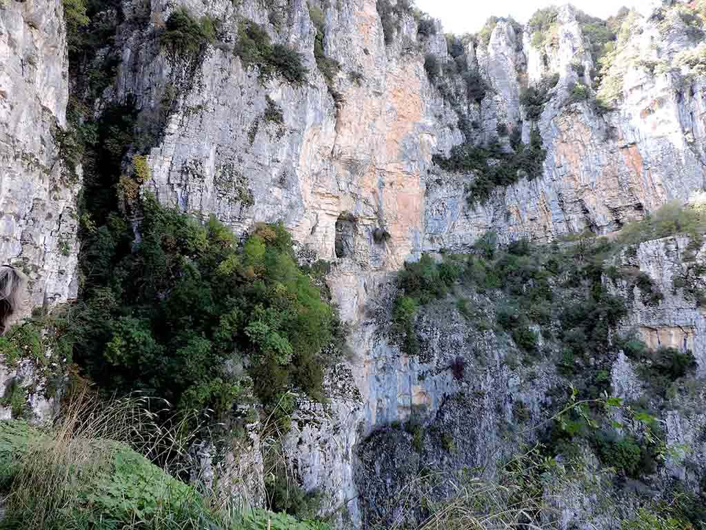 View of the Vikos Gorge.