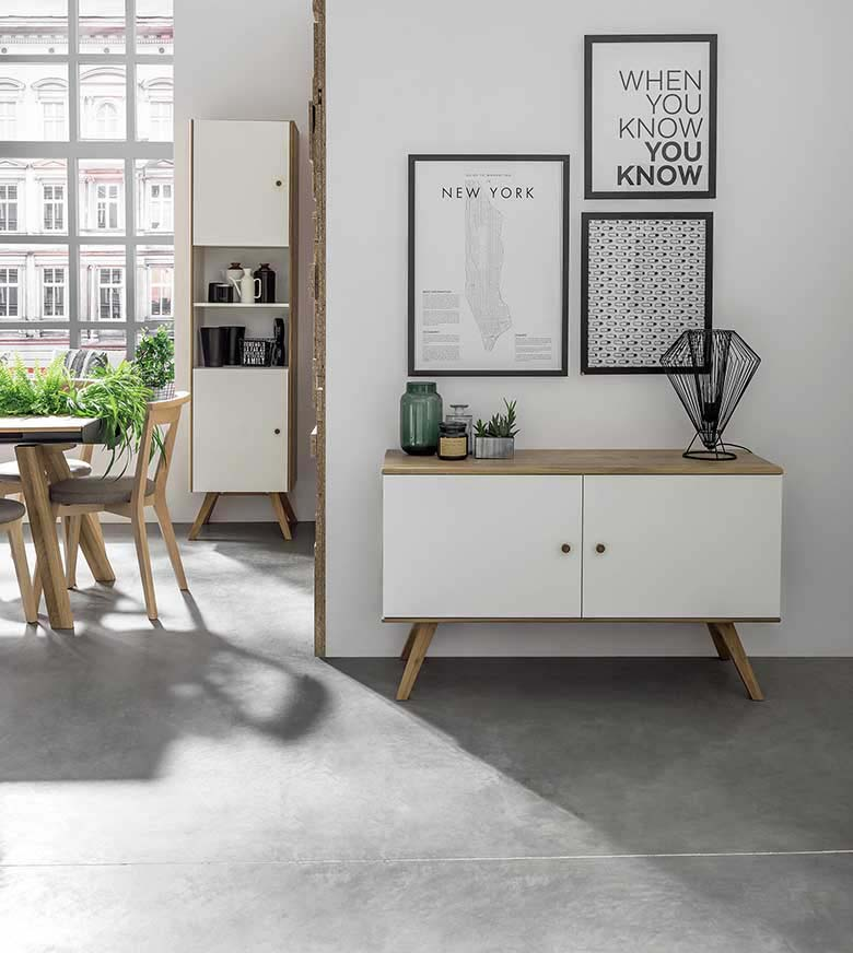 Who says that a sideboard is only for the living room. This Nature Small Wooden Sideboard is a wonderful solution for a small hallway too as a entry table while enhancing the minimal contemporary Scandi styled home. Image by Cuckooland.