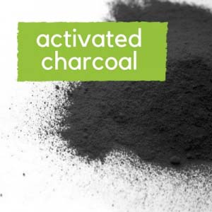 Activated charcoal black powder