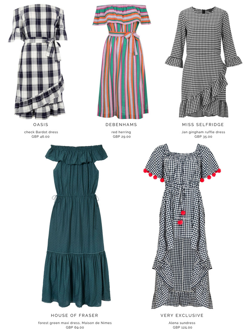 Five Bardot dresses to suit all. Images by the brands noted.