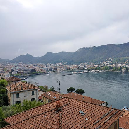 View of Como and the Lake Como. Image by Velvet.