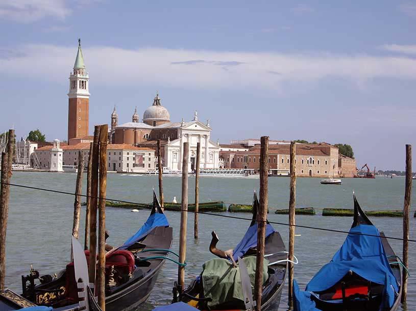 Distant view of the Church of San Giorgio Maggiore.