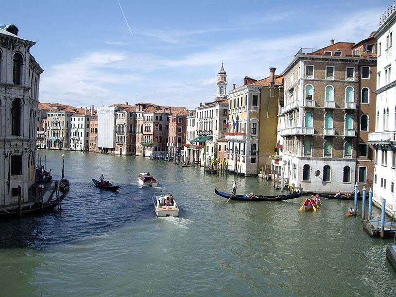 View of the Grand Canal in Venice.