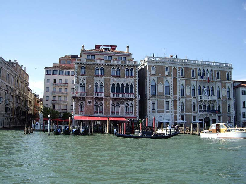 Partial view of the Grand Canal and its beautiful architectural buildings.