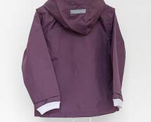 Child's raincoat in a deep purple color (made of recyclable materials)
