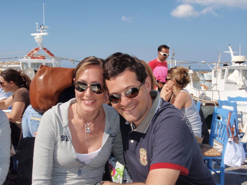George and I in Paros on Easter Sunday