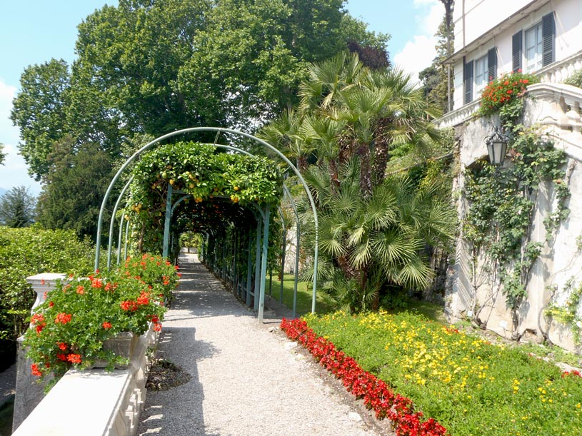 While walking through the gardens in Villa Carlotta.
