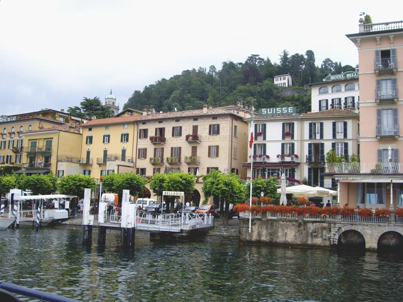 Partial view of the Bellagio town from a boat.