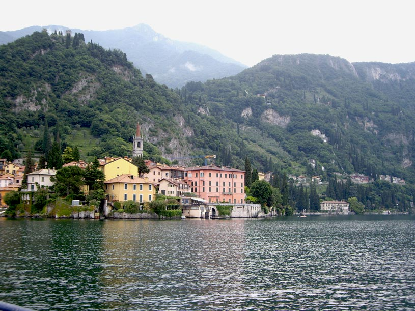 Partial view of Lake Como in Italy.