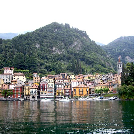 Partial view from Lake Como.