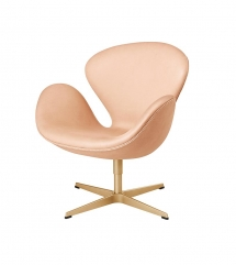 Fritz Hansen 60th Anniversary Edition Swan Chair in blush pink. Image by Nest.co.uk