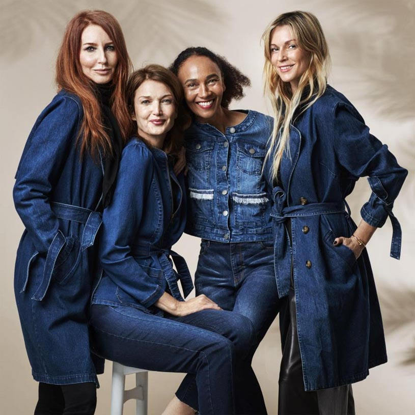 Four women dressed in all denims prove how cool this trend really is! Image by JDWilliams.