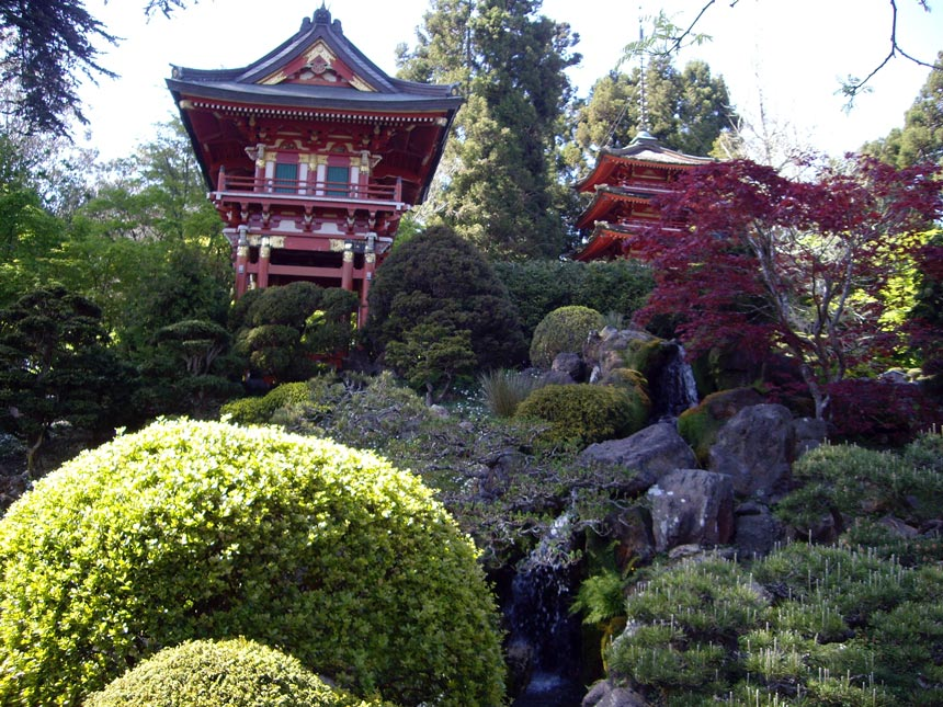View of the Japanese Tea Garden in San Francisco.