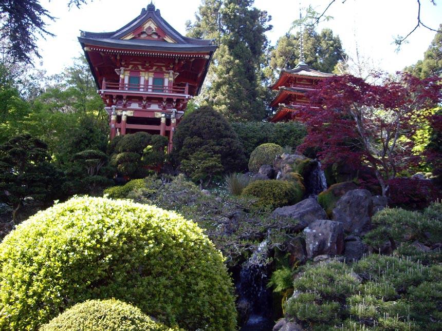 View of the Japanese Tea Garden in San Francisco.