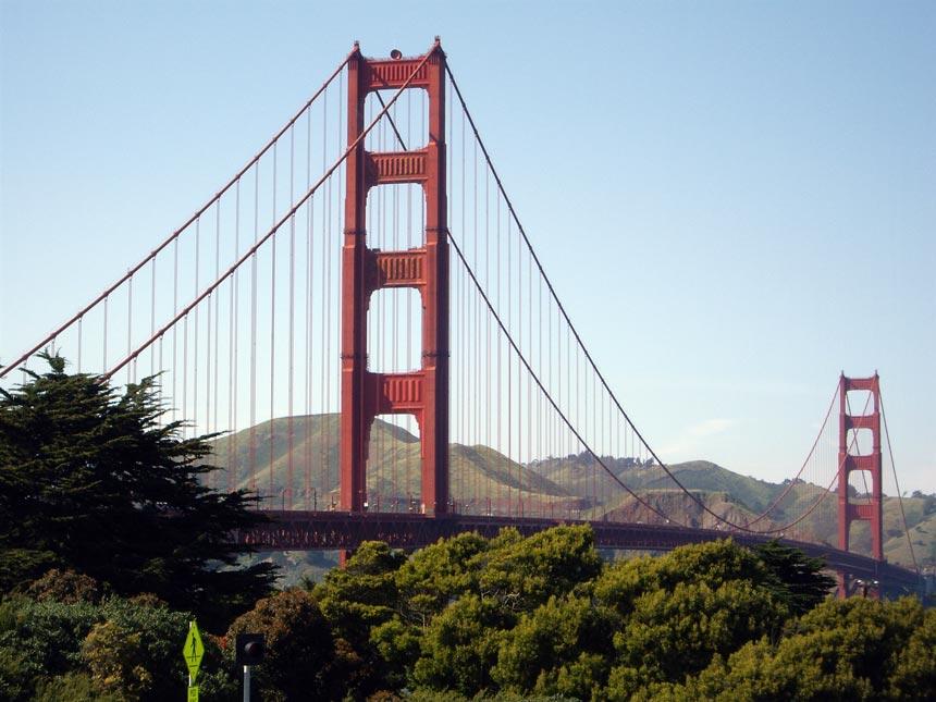View of the Golden Gate Bridge in San Francisco U.S.